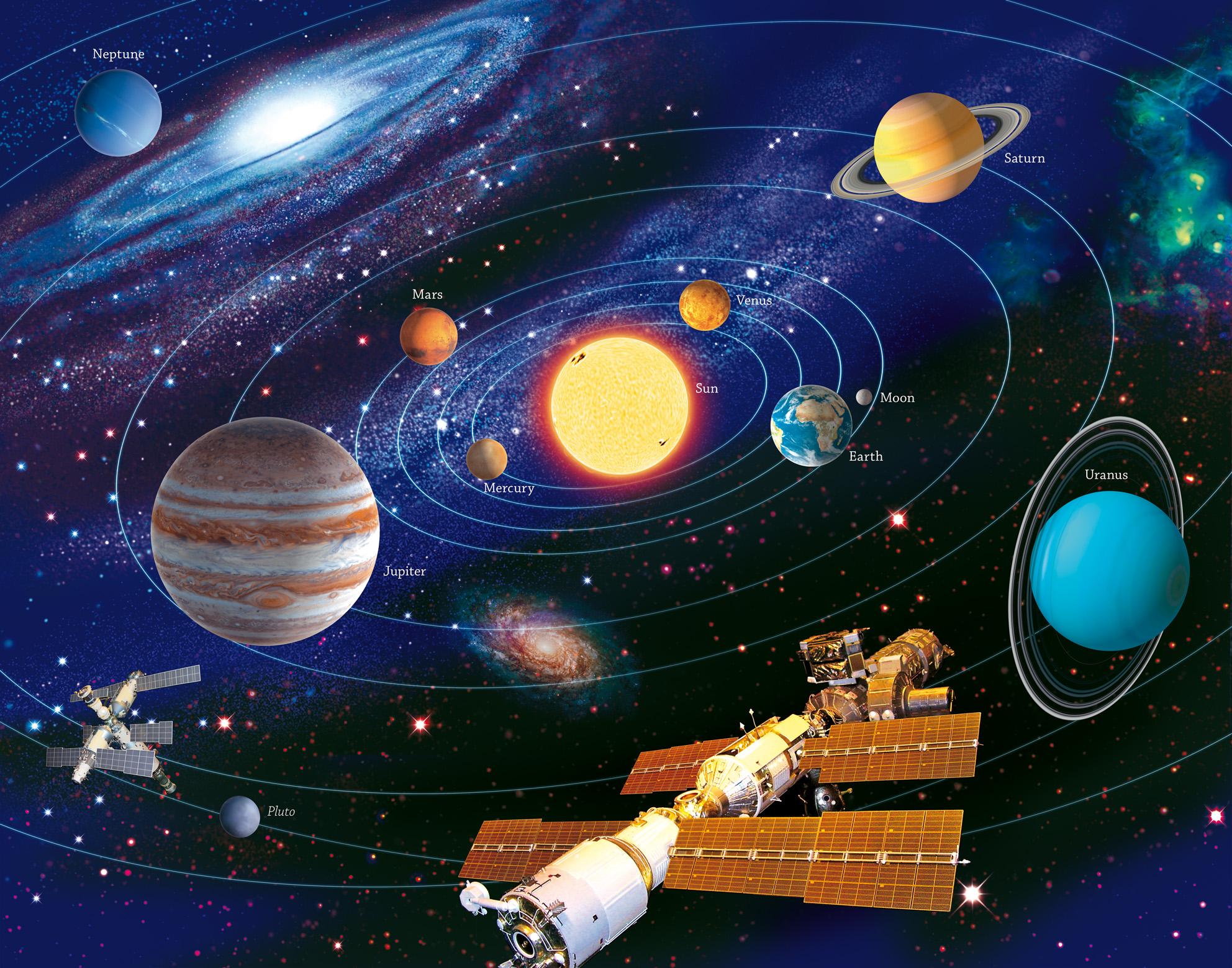 Картинки космоса и планет для детей